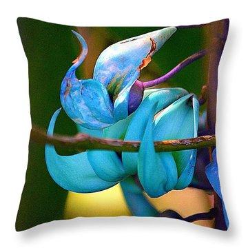 Colorful Jade Blossom Throw Pillow