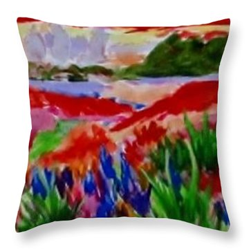 Throw Pillow featuring the painting Colorful by Jamie Frier