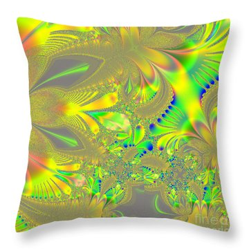 Colorful Jeweled Abstract Throw Pillow by Linda Phelps