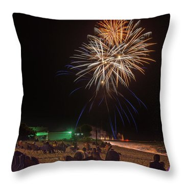 Throw Pillow featuring the photograph Colorful Kewaunee, Fourth by Bill Pevlor
