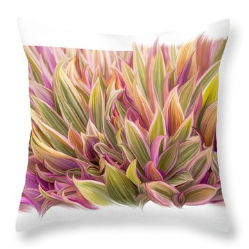 Color Of Leaves Throw Pillow