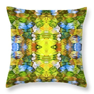Colorful Liquid Pattern Throw Pillow