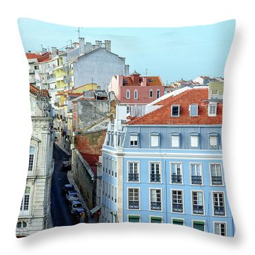 Colorful Lisbon Throw Pillow by Marion McCristall