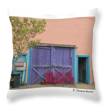 Colorful Madrid Throw Pillow by R Thomas Berner