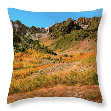 Colorful Mcgee Creek Valley Throw Pillow