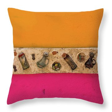 Colorful Mexico  Mexican Art By Kaylyn Franks Throw Pillow