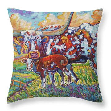 Colorful Momma Throw Pillow