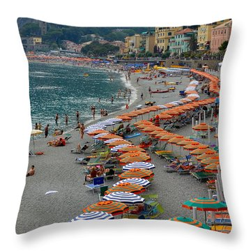 Colorful Monterosso Throw Pillow by Corinne Rhode
