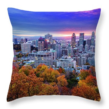 Throw Pillow featuring the photograph Colorful Montreal  by Mircea Costina Photography