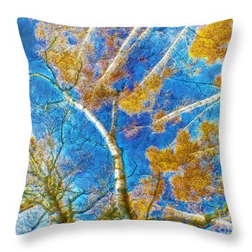 Colorful Mystical Forest Throw Pillow