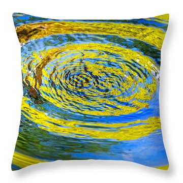 Colorful Nature Abstract Throw Pillow by Christina Rollo