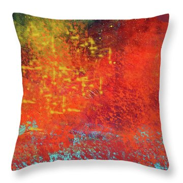Throw Pillow featuring the painting Colorful Night by Nancy Merkle