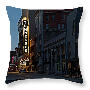 Colorful Night On Gay Street Throw Pillow
