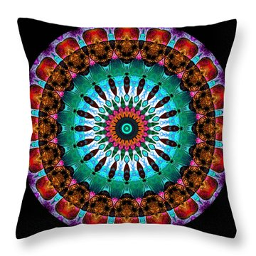 Colorful No. 9 Mandala Throw Pillow by Joy McKenzie