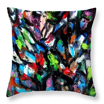 Colorful Of Life Throw Pillow