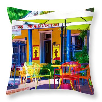 Colorful Old Town 2 Throw Pillow