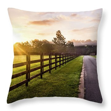 Throw Pillow featuring the photograph Colorful Palette At Sunrise by Shelby Young