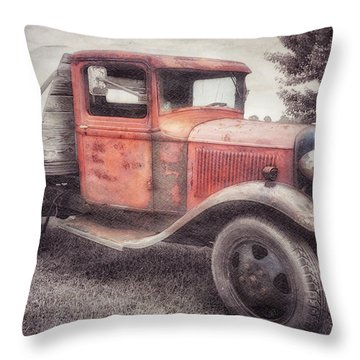 Colorful Past Throw Pillow
