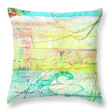 Colorful Pastel Art - Mixed Media Abstract Painting Throw Pillow