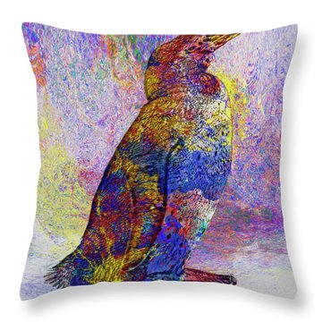 Colorful Penguin Throw Pillow