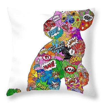 Poodle-icious Throw Pillow