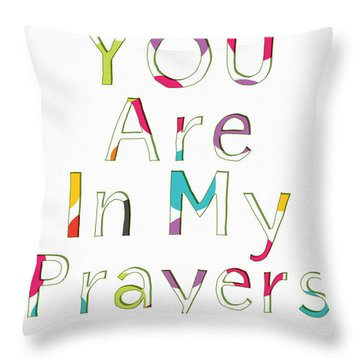 Colorful Prayers- Art By Linda Woods Throw Pillow