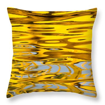 Colorful Reflection In The Water Throw Pillow