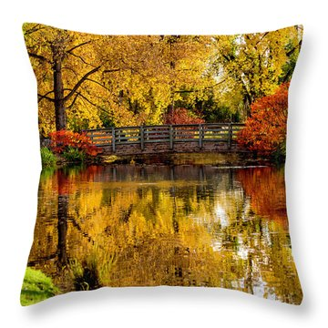 Colorful Reflections Throw Pillow by Kristal Kraft