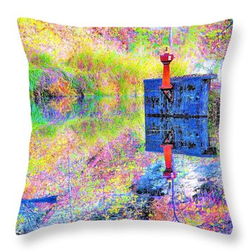 Colorful Reflections Throw Pillow