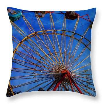 Colorful Ride Throw Pillow