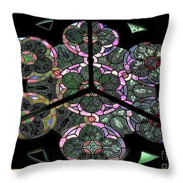Colorful Rosette In Pink-lila Throw Pillow
