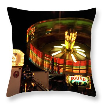 Colorful Round Up Wheel Throw Pillow