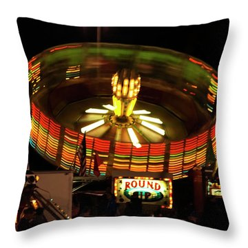 Throw Pillow featuring the photograph Colorful Round Up Wheel by Jose Rojas