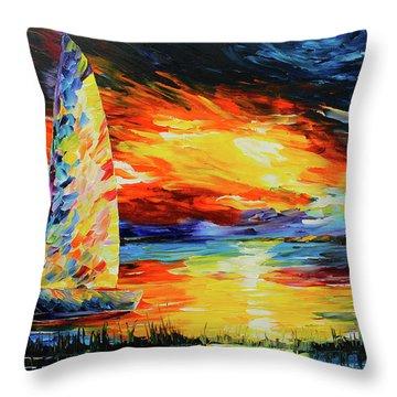 Colorful Sail Throw Pillow