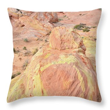 Throw Pillow featuring the photograph Colorful Sandstone In North Valley Of Fire by Ray Mathis