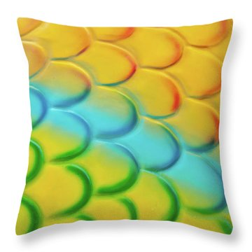 Colorful Scales Throw Pillow by Adam Romanowicz