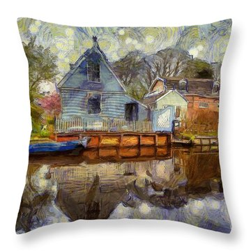 Colorful Serenity Throw Pillow