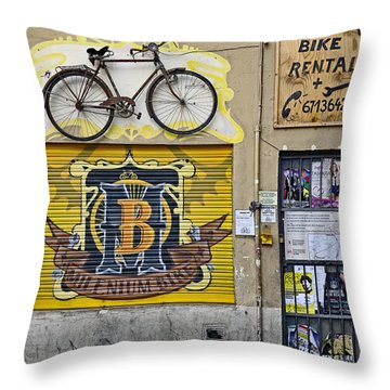 Colorful Signage In Palma Majorca Spain Throw Pillow