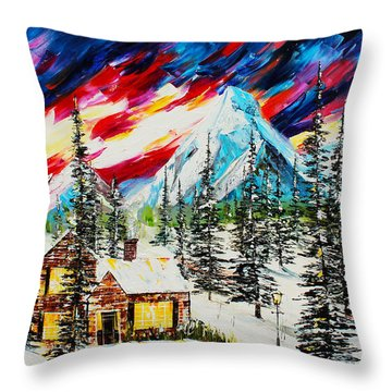 Colorful Sky Throw Pillow