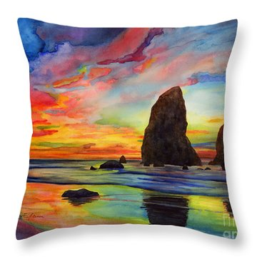Colorful Solitude Throw Pillow