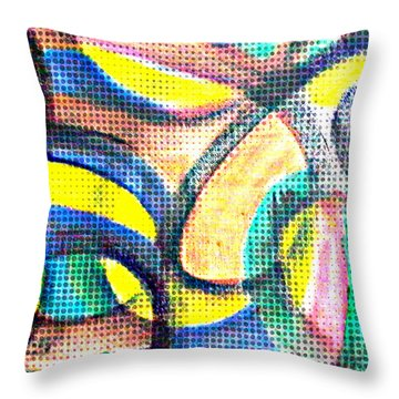 Throw Pillow featuring the mixed media Colorful Soul by Lucia Sirna