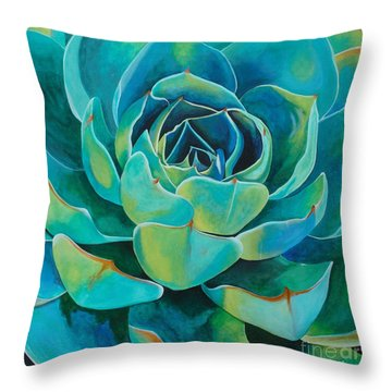 Colorful Succulent Throw Pillow
