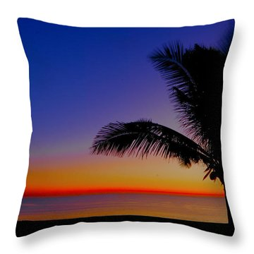 Throw Pillow featuring the photograph Colorful Sunrise by Don Durfee