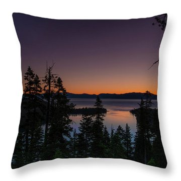 Colorful Sunrise In Emerald Bay Throw Pillow