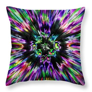 Colorful Tie Dye Abstract Throw Pillow