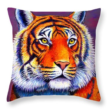 Colorful Tiger Throw Pillow