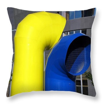 Colorful Ventilation Shaft Throw Pillow by Yali Shi