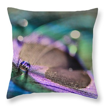 Colorful Water Droplet Throw Pillow