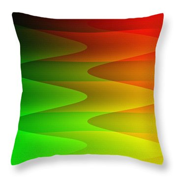 Throw Pillow featuring the digital art Colorful Waves by Kathleen Sartoris