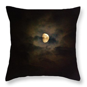 Throw Pillow featuring the photograph Colorfull Moon by Ramona Whiteaker
